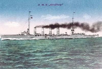 Small cruiser SMS Straßburg