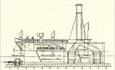 Propulsion turboélectrique du navire de levage sous-marin SMS Vulkan