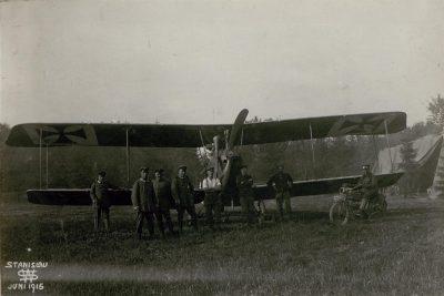 Albatros B.I à l'aéroport Stanislau