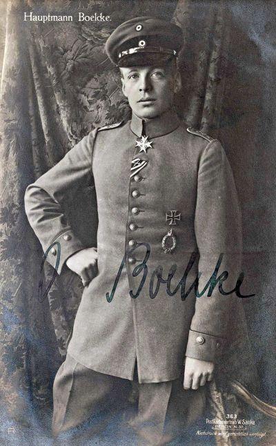 Oswald Boelcke 1916 avec l'Ordre Pour le Mérite