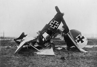 在佛兰德斯坠毁的信天翁D.III