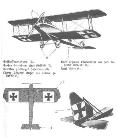 Хальберштадт D самолет конструкцию