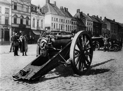 一架德国人用QF 4,7英寸枪