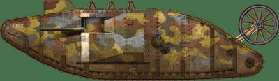 Char Mark I no. 745 de la compagnie D du Heavy Section Machine Gun Corps (HSMGC)