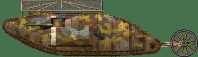 Char Mark I n° 746 de la compagnie C du Heavy Section Machine Gun Corps (HSMGC)