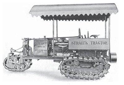 Tracteur agricole Straits avec toit ouvrant attenant