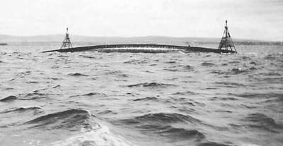 L'épave du HMS Natal dans le Cromarty Firth vers 1916