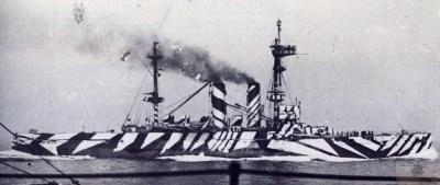 Le HMS London en tant que poseur de mines à la fin de la Première Guerre mondiale