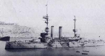 ГМС Принц оф Уэльс в 1915 в Мальте