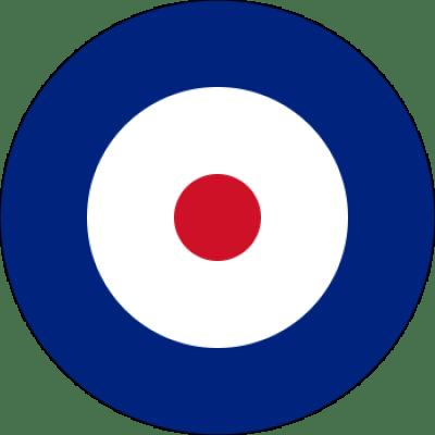 Marquage au tourillon britannique d'aéronefs