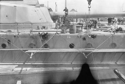 Danni alla HMS Warspite dopo la battaglia dello Skagerrak