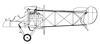 Vista laterale di un Airco D.H.1
