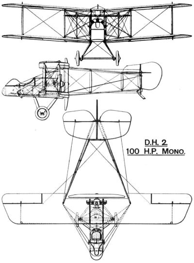Disegno di un Airco DH.2