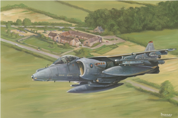 Harrier over Cottesmore - Military Times - Mark Bromley