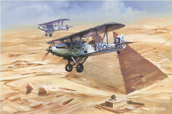 Hawker Hinds over Egypt - Military Times - Mark Bromley