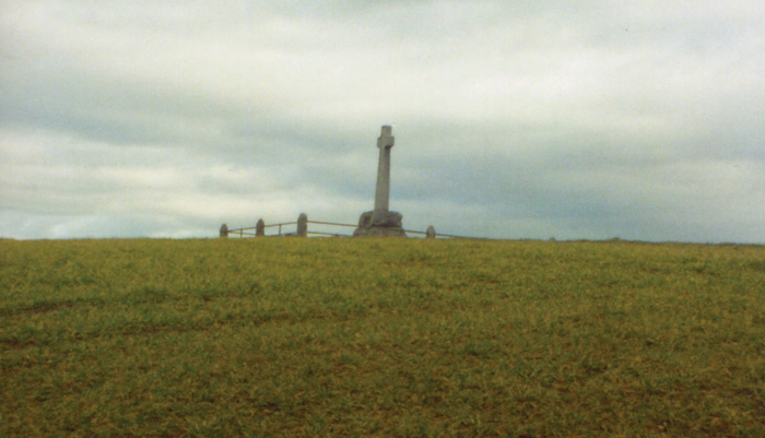 The monument on the battlefield.