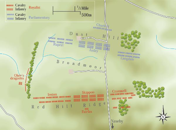Battle of Naseby, 14th June 1645