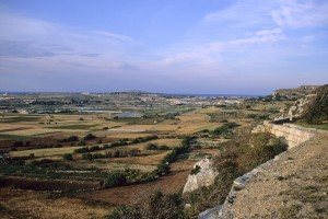 Victoria Lines, Malta. Looking North, near Mosta Fort.