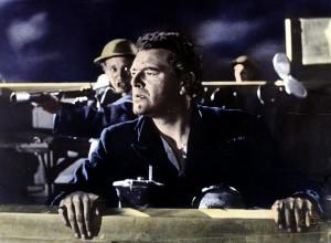 "Der Grosse Atlantik  Cruel Sea,  Jack Hawkins Ericson (Jack Hawkins), Kommandant des britischen Kriegsschiffes ""Compass Rose"","