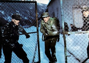 The 1960s brought about a rise of Boy's Own style movie romps. Here, Kirk Douglas stars in film typical of the time, The Heroes of Telemark.