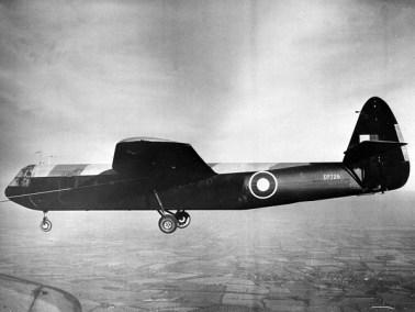A Halifax taking off, pulling a Horsa glider like the one Mike Hall piloted.