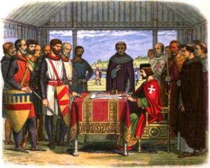 Magna Carta sealing an agreement