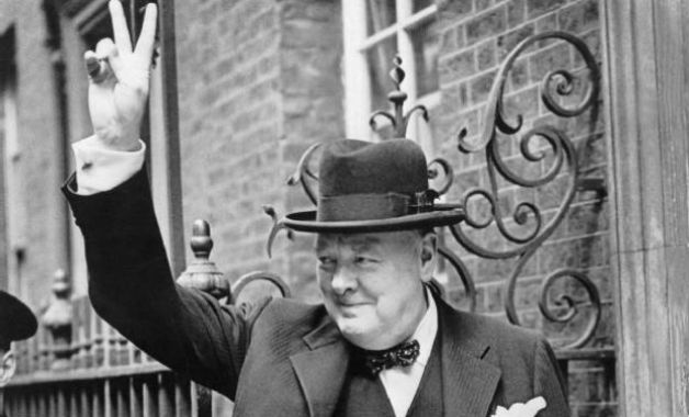 Image result for churchill 1945