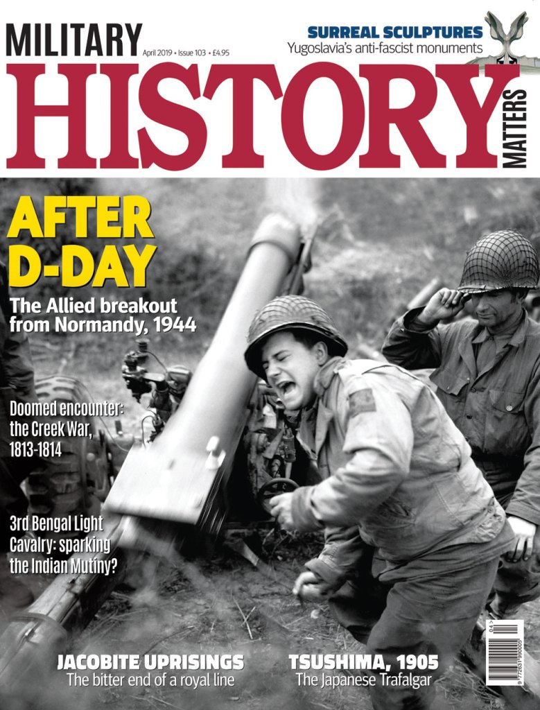Front cover of issue 103 of Military History Matters magazine.