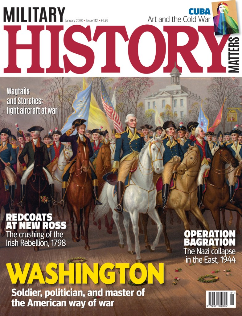 Front cover of Military History Matters 112, the January 2020 issue.