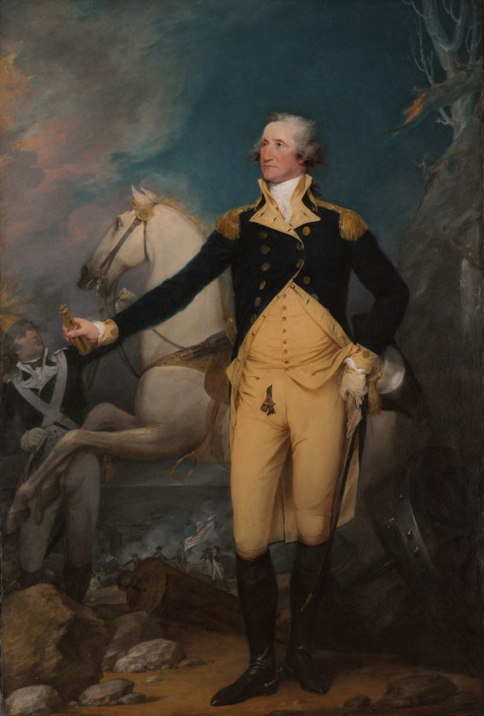 General George Washington at Trenton, 1777, detail from a painting by John Trumbull
