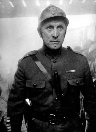 Kirk Douglas as Colonel Dax. Douglas fell in love with the film script after it had initially been  rejected by MGM.