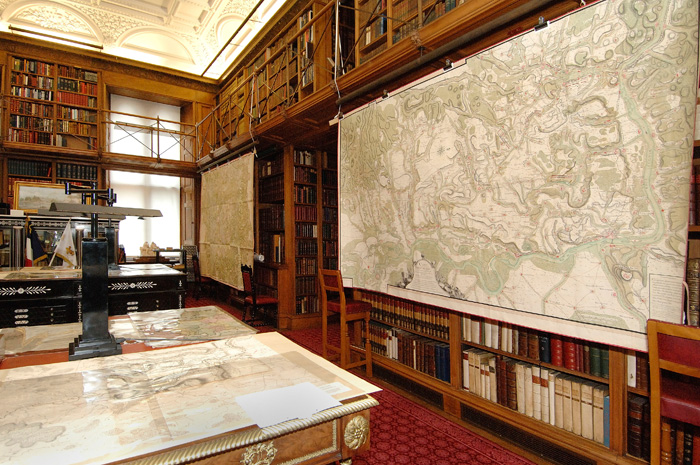 George III's military maps in the Royal Library at Windsor Castle. Image: Royal Collection Trust.