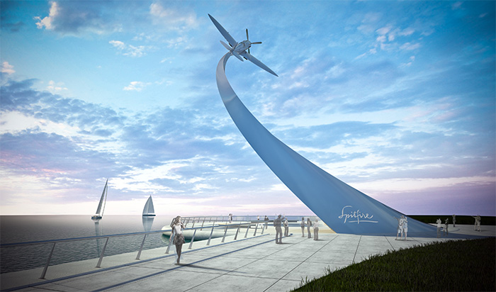 The proposed design of the memorial, which will be built by Southampton's waterfront. Image: Nick Hancock Design Studio.