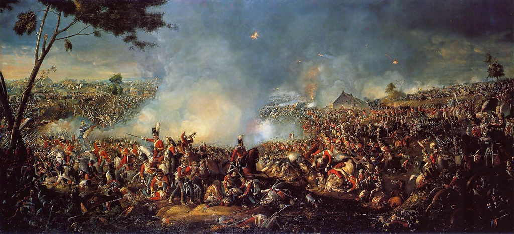 The Battle of Waterloo as depicted by William Sadler.