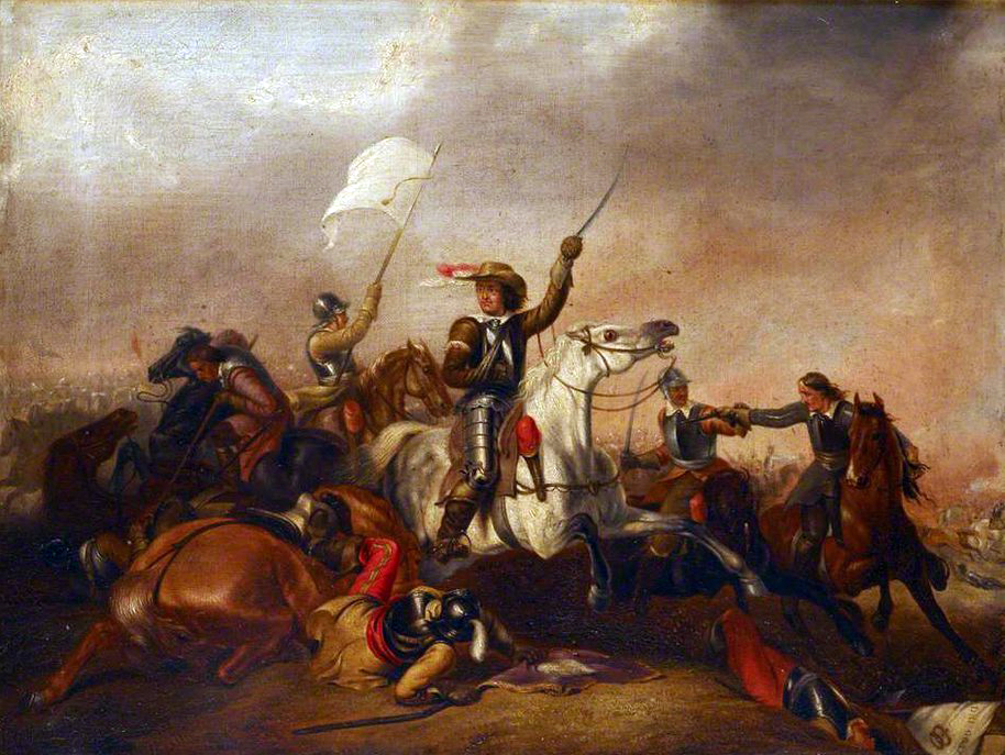 Cromwell at Marston Moor, 2 July 1644, where he honed his skills as a resolute commander of horse.