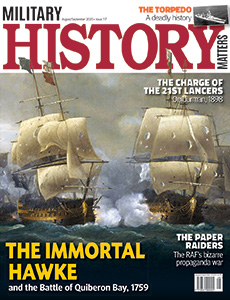 Front cover of Military History Matters 117, the August/September issue.