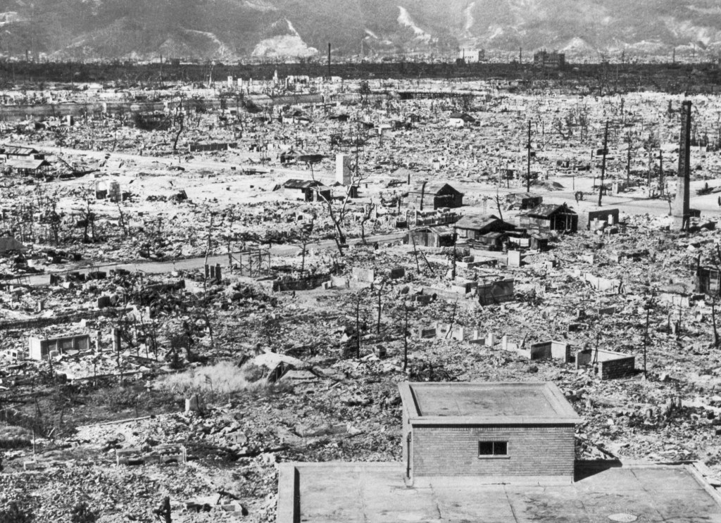 Atomic desert: the view across Hiroshima after the bombing