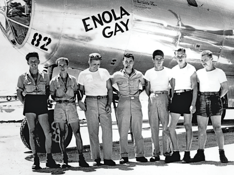 The crew of the Enola Gay, which dropped the 'Little Boy' on Hiroshima.