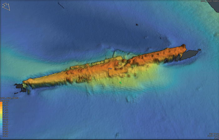 A survey of the German U-boat UC-47. She was sunk by a British patrol boat in November 1917.