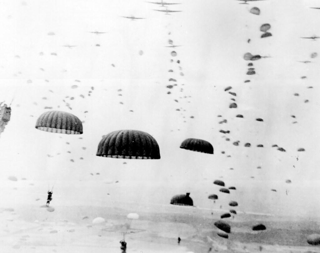 Operation Market Garden parachute drop, September 1944.
