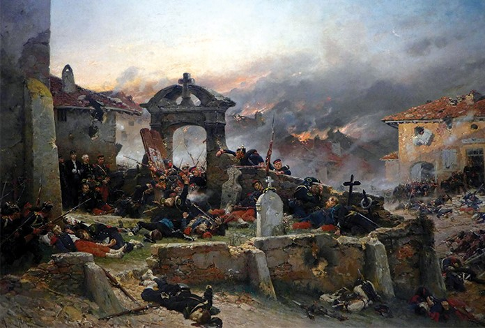 The Battle of Gravelotte-St-Privat, during the Franco-Prussian War.