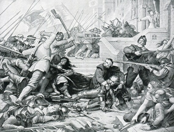 The Siege of Basing House, which served, like Shelford, as a Royalist garrison and was overrun by Parliamentary forces. There were many such sieges during the war.