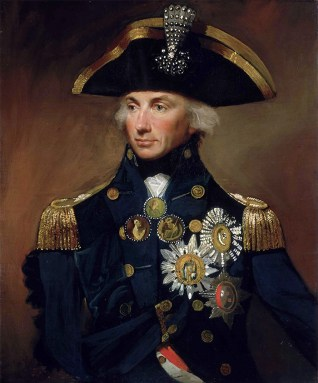 Admiral Horatio Nelson, detail from a 1799 portrait by Lemuel Francis Abbott.
