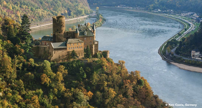 Military Discounts on all River Cruises Katz Castle Rhine Germany