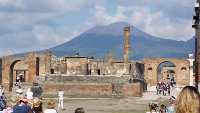 Western Mediterranean Cruise Military and Veteran Discount Pompeii Vesuvius Italy Western Mediterranean