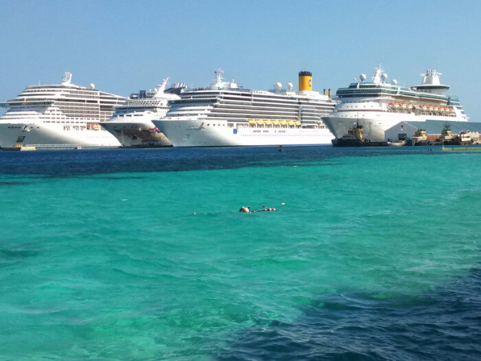 Four Ships Parked Nassau Cruise the Caribbean with a Military and Veteran Discount