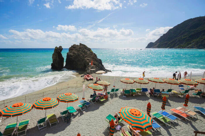 Sandy Beach At Monterosso
