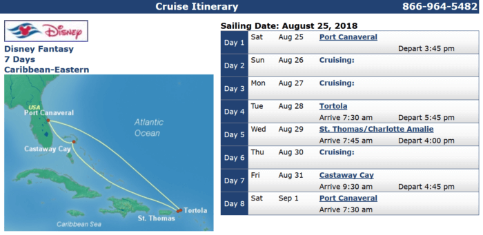 Disney Fantasy August 18 Disney Cruises with Military Discounts