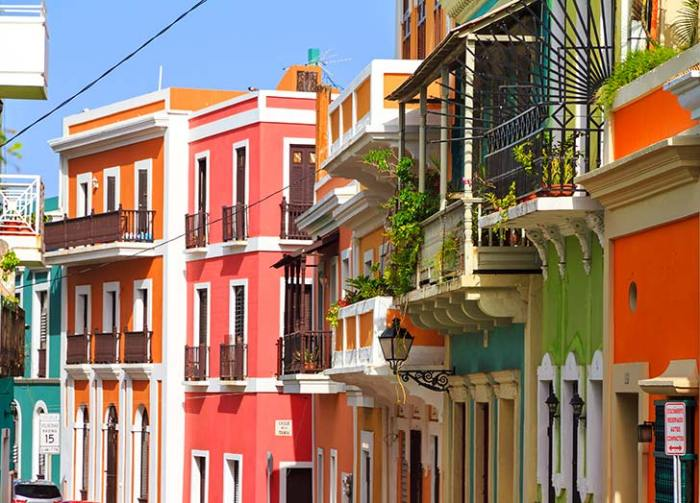 Old San Juan Puerto Rico Colorful Houses