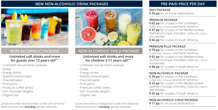 Beverage packages on cruises - Military Cruise Deals